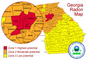 georgia radon high risk map