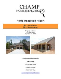 Champ New Home Inspection Report