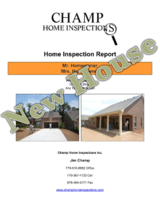 Champ New House Inspection Report