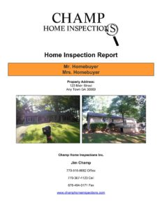 Champ Older Home Inspection Report