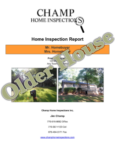 Champ Older House Inspection Report